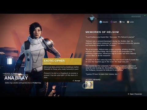 """Destiny 2: Vicarious Visions Developer Matt Helsom's Memorial """"Quest"""" (Full Short Event & Reward)"""