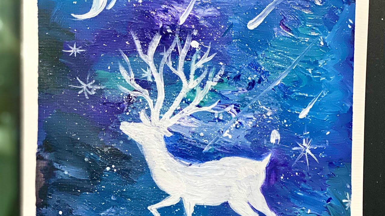 Acrylic Painting_ Cách đơn giản để vẽ tranh Galaxy   CHING ART 