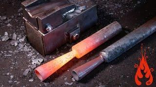 Blacksmithing - Forging a seamless socket (tool making)