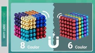 Mở hộp thực tế bộ nam châm xếp hình Neocube 216 viên 5mm 6 màu và 8 màu tại Huy Linh