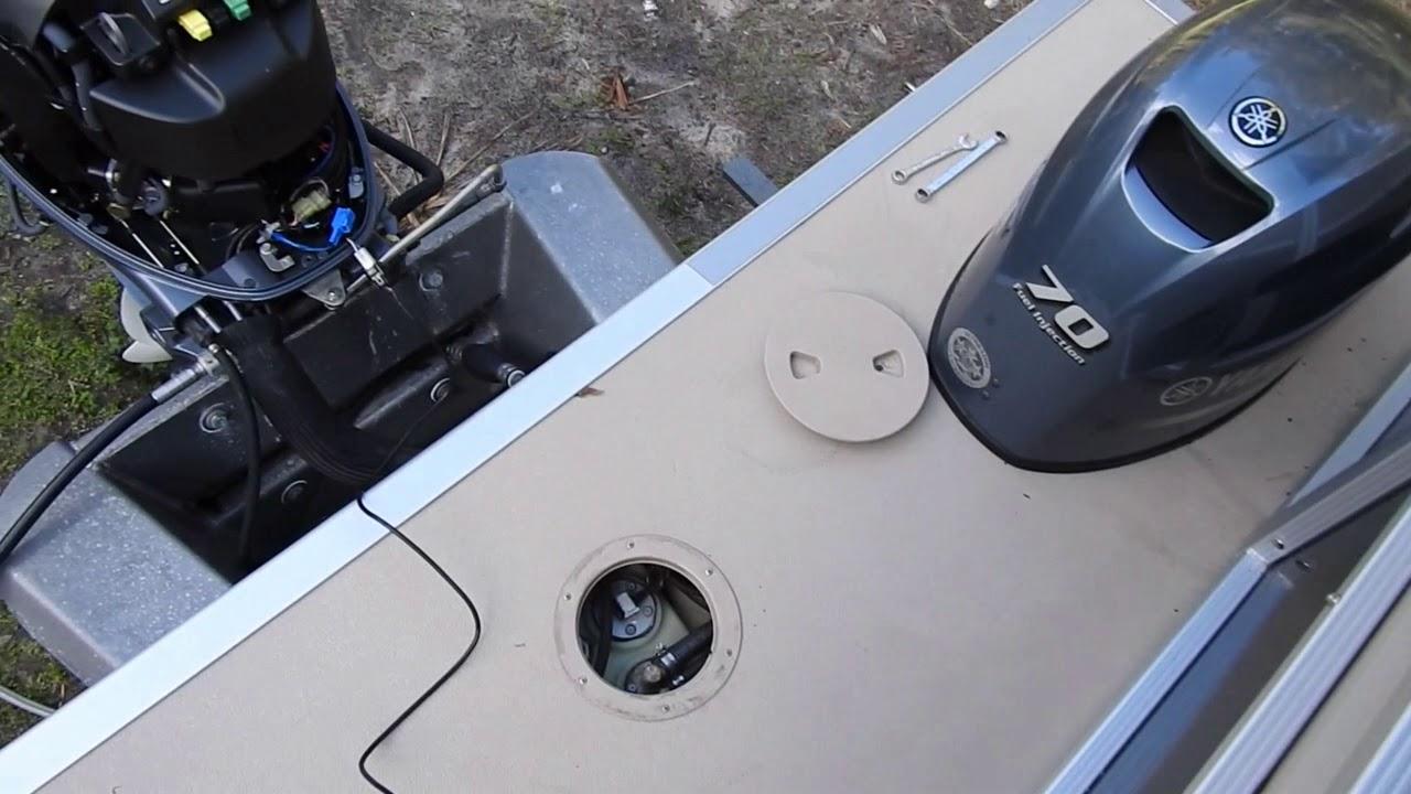 nmea 2000 install on a pontoon boat  yamaha f70 to garmin 54cv fishfinder