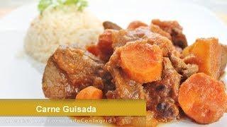 Carne Guisada  - Receta Facil  -  Comida SalvadoreÑa