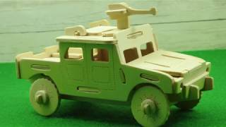 HOW TO MAKE A WOODEN PUZZLE HUMMER  AT HOME