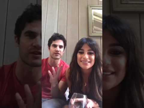 Lea Michele and Darren Criss - Facebook Live on April 11, 2017