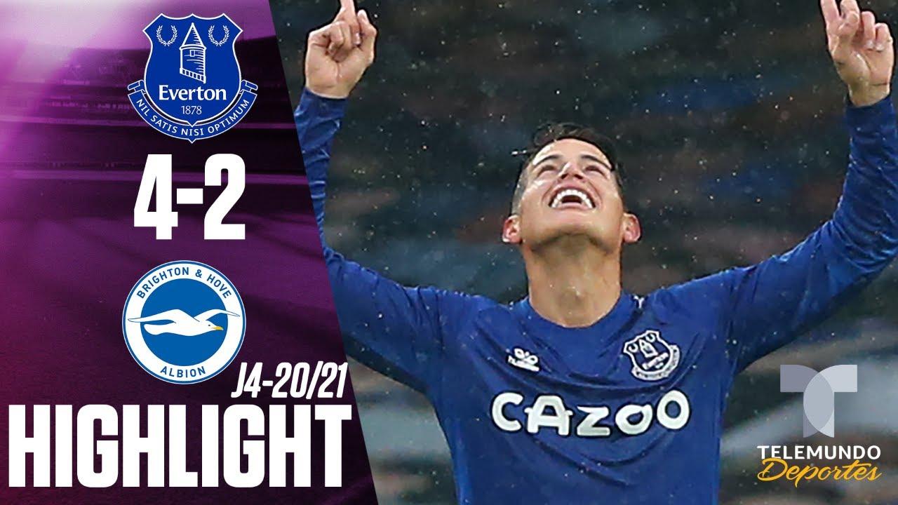 Highlights & Goals | Everton vs. Brighton 4-2 | Telemundo ...