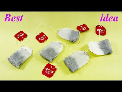 Waste material reuse idea   Best out of waste   DIY arts and crafts   recycling tea packets