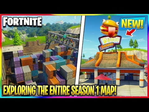 EXPLORING THE *ENTIRE* FORTNITE SEASON 1 MAP! | Fortnite Battle Royale
