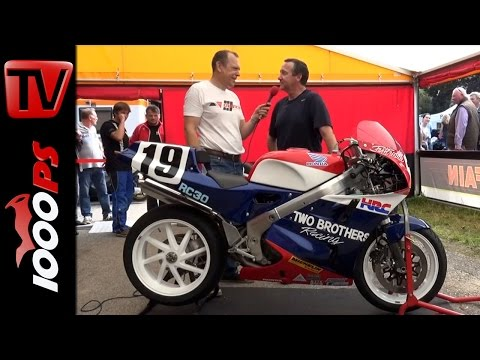 Freddie Spencer - GP Schwanenstadt, Honda RC 30, Interview