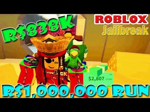 MILLION DOLLAR RUN [[Cash = R$838K]]    Jailbreak   ROBLOX