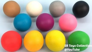 Learn Colours and Numbers with Play Doh Balls Fun & Creative for Kids