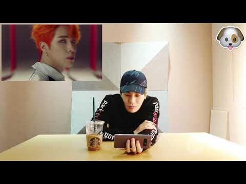 Sanggyun's reaction to Kim Donghan's Good Night Kiss MV