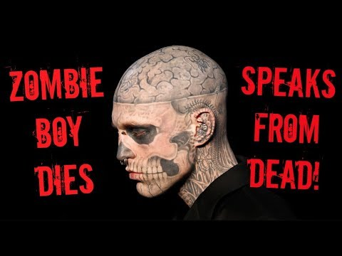 RICK GENEST AKA ZOMBIE BOY SPEAKS FROM THE DEAD HIS VOICE!