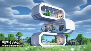 ⛏ Tutorial de Minecraft ::  Casa contenedor blanca de 3 pisos