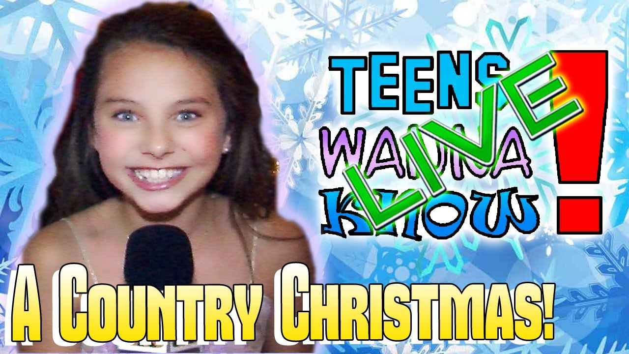 teens wanna know a country christmas red carpet interviews youtube - A Country Christmas Cast