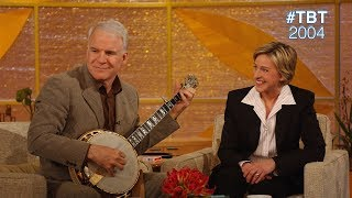 #TBT 2004: Steve Martin Astounds Ellen with the Banjo and a Magic Trick