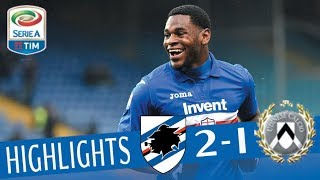 Sampdoria - Udinese 2-1 - Highlights - Giornata 26 - Serie A TIM 2017/18 streaming