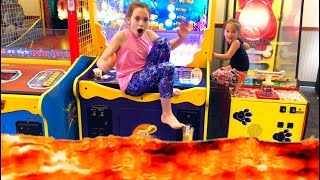 The Floor is Lava Challenge and Family Fun Time at Chuck E Cheese