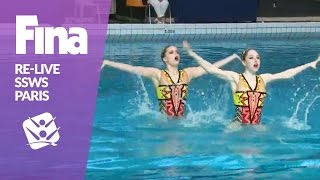 LIVE | Free & Mixed Duet | FINA Synchronised Swimming World Series 2017 - Paris(Watch live on the FINA YouTube channel: Free Duet and Mixed Duet Final from the FINA Synchronised Swimming World Series 2017 in Paris. Don't miss the ..., 2017-03-12T14:28:59.000Z)