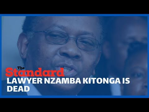 Lawyer Nzamba Kitonga, the man who played a critical role in drafting the 2010 constitution is dead