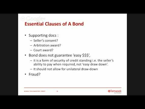 Performance Bonds and Letters of Credit