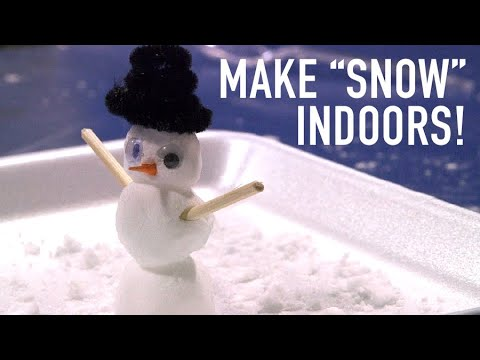 Too cold to play outside? Here's a simple way kids can make 'snow' indoors and play inside (video)