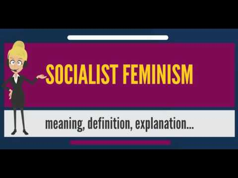 What is SOCIALIST FEMINISM? What does SOCIALIST FEMINISM mean? SOCIALIST FEMINISM meaning
