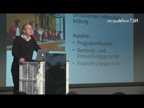 """re:publica 2016 — Lorenz Lorenz-Meyer: Warum wir die """"Zwangsgebühren"""" verteidigen sollten on YouTube"""
