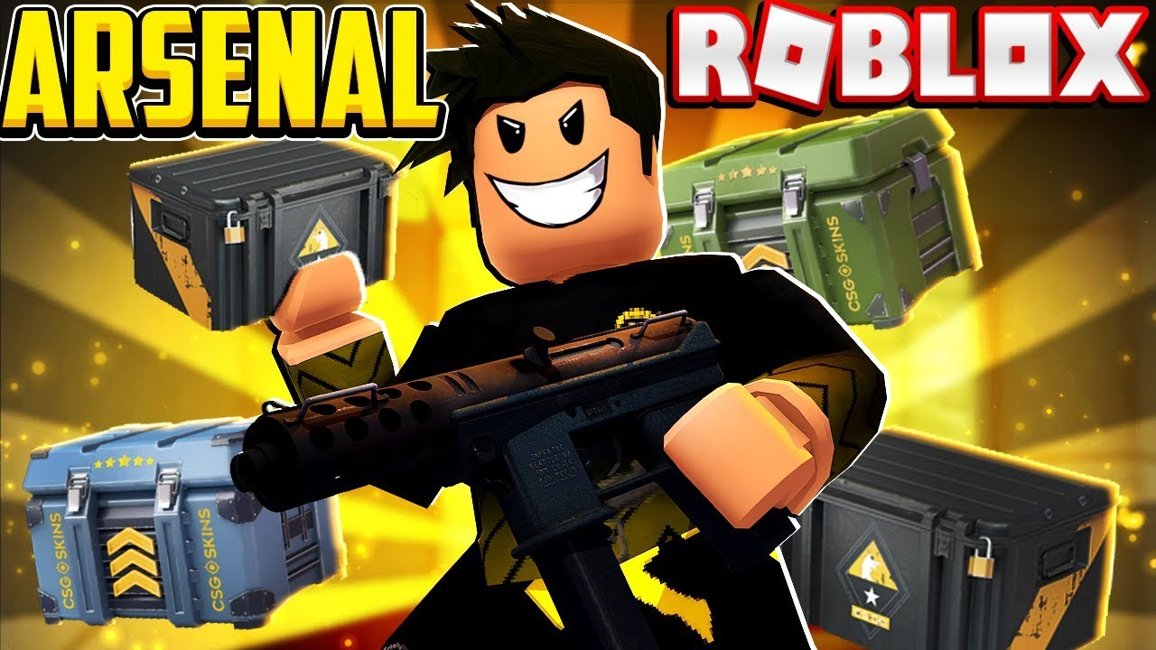 Spending 20 000 Credits On Cases In Arsenal Roblox Youtube