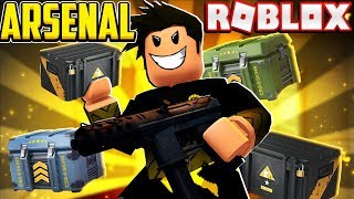SPENDING 20,000 credits ON CASES in Arsenal (Roblox)