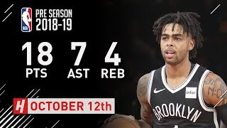 D'Angelo Russell Full Highlights Nets vs Knicks - 2018.10.12 - 18 Pts, 7 Reb, 4 Reb!