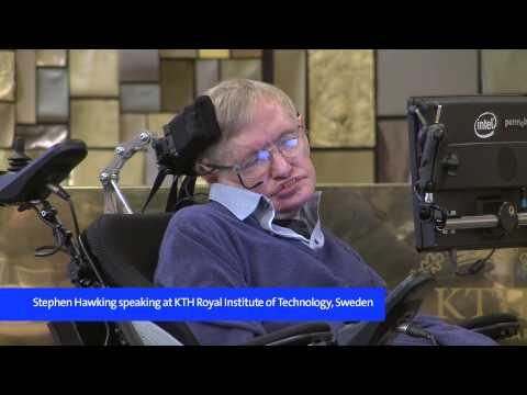 Stephen Hawking presents new theory on black holes at KTH, 2015