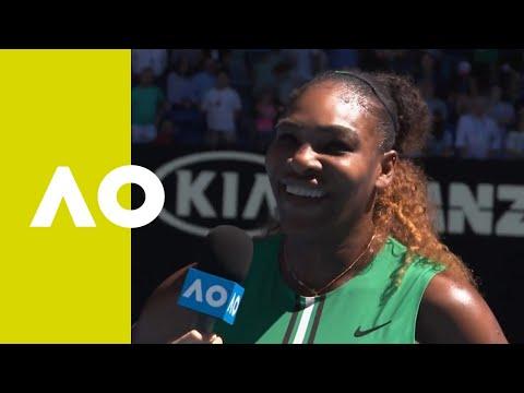 Serena Williams on-court  3R  Australian Open 2019