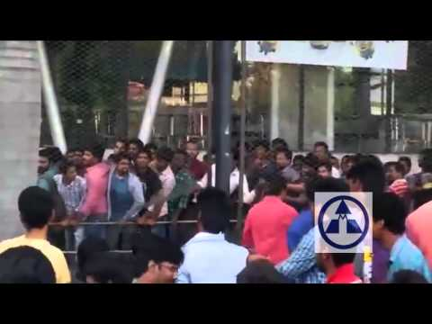 Fans Hud Hud at Prasads Imax for Baahubali Tickets Booking