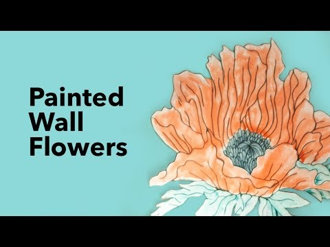 DIY Oversized Painted Flowers 🌺 Wall Decor Ideas with James Worsham