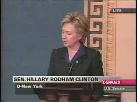 Hillary Clinton Iraq War Vote Speech