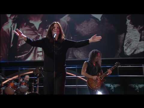 Metallica and Ozzy Osbourne  black sabbath hall of Fame Induction   Iron Man   Paranoid