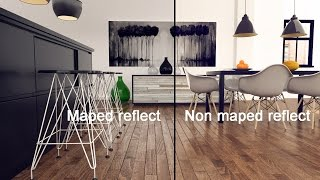 3ds Max - Vray Material maped reflect - no plygin - Tutorial