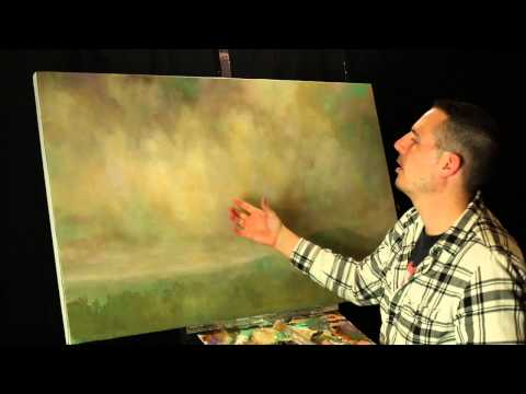 Creating subtle compliments in your skies when painting with acrylics by Tim Gagnon