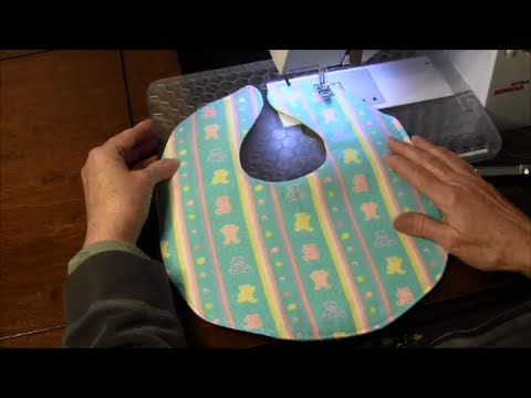 Baby Bib - How to Sew a Simple Baby Bib - YouTube 377f3aeecbfc