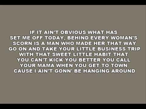 [On Screen Lyrics] Miranda Lambert - Baggage Claim