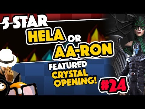 Crystal Opening #24: 2 Tries for 5 Star Hela or AA-Ron!