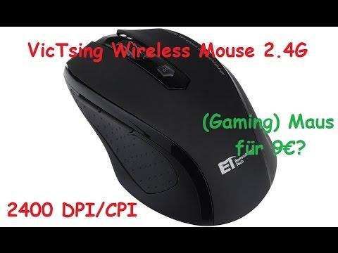 VicTsing Wireless Mouse 2.4G Unboxing und Test -  Maus für 9€!?