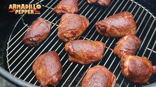 Butter-Bath Chicken Thighs (Competition Chicken) on the Pit Barrel Cooker with Jack Stack BBQ Sauce