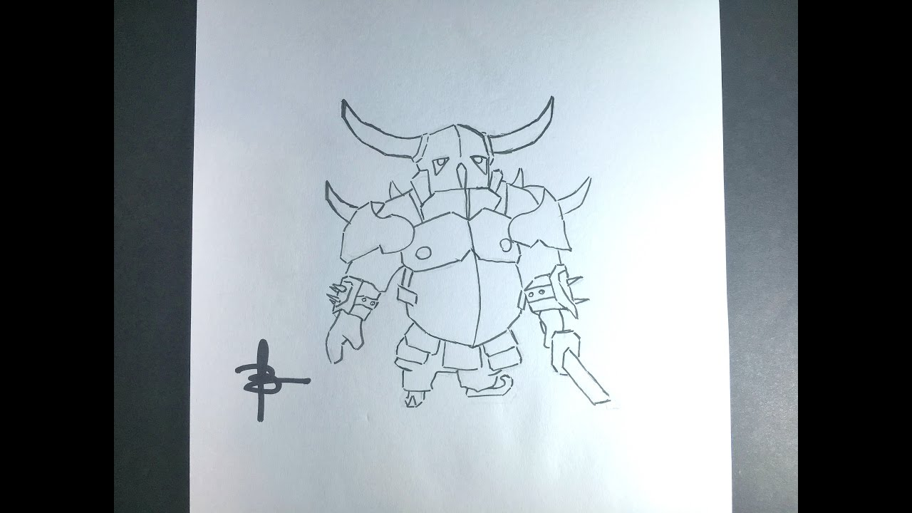 How To Draw Pekka Clash Royale