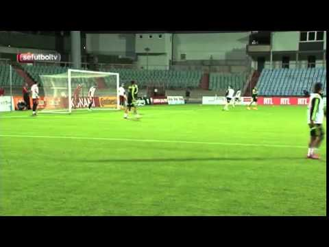 Cesc Fabregas rifles a volley into the...