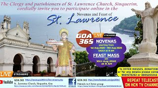 Novena Mass of St. Lawrence Church, Sinquerim 3rd Aug 2020