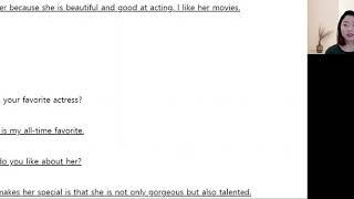 좋아하는 배우에 대해 …