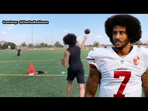 Colin Kaepernick Practices in Houston - 3/15/18 (KTRK ABC-13)