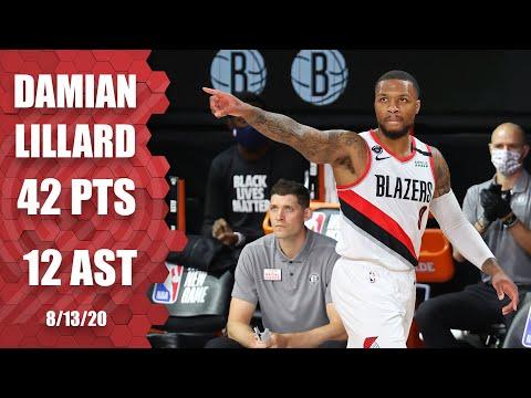 Damian Lillard scores 42 points for Blazers vs. Nets | 2019-20 NBA Highlights