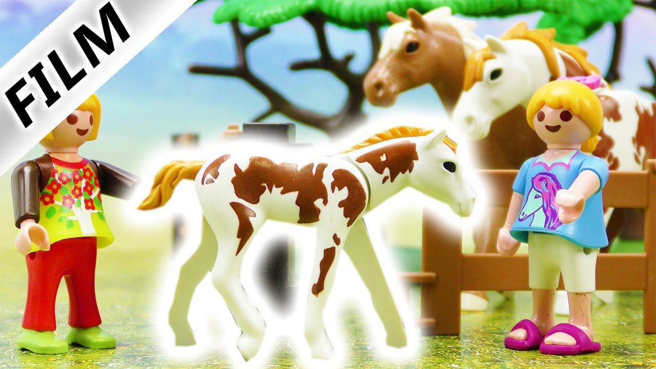 Playmobil film deutsch fohlen entf hrt hannah und anna retten pferd kinderserie familie - Pferde playmobil ...